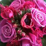 Buket i rød og pink